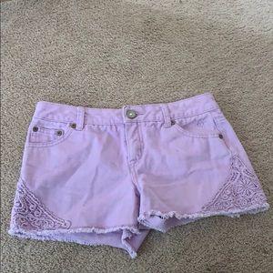 Justice purple shorts
